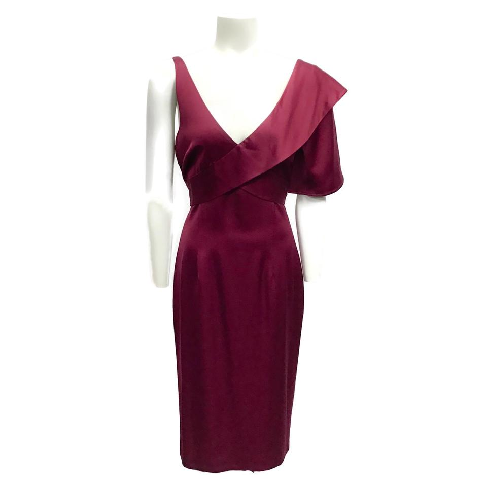 Kimora Lee Simmons Raspberry Satin Flutter Dress