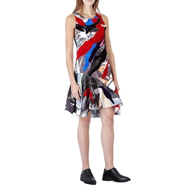 KOCHÉ Multicolored Patchwork Dress