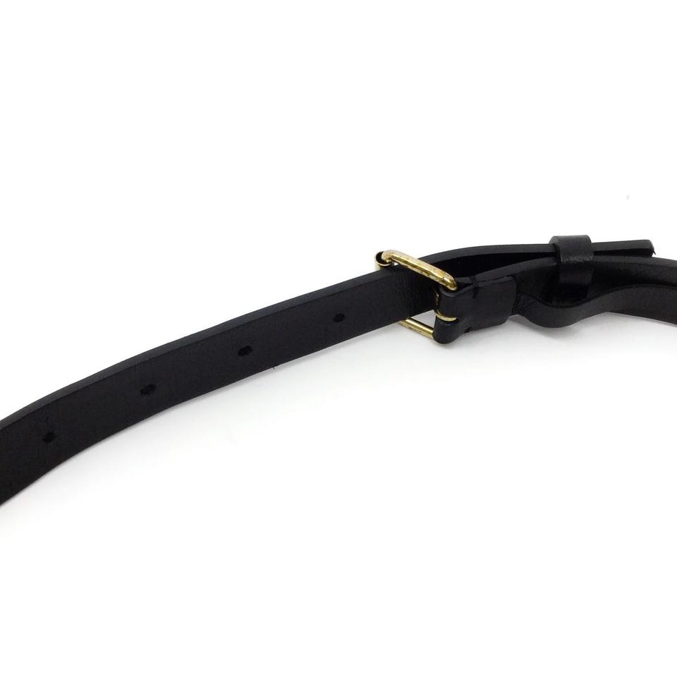 Lanvin Black / Gold Bird Belt