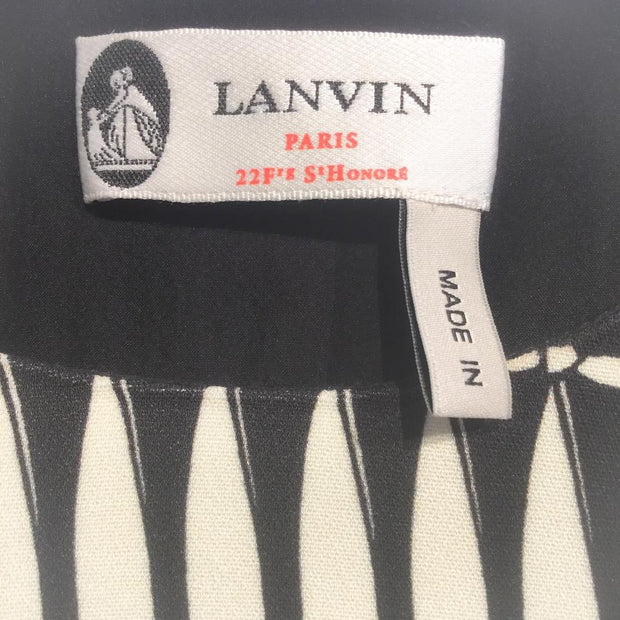 Lanvin Black / Ivory Tie Print Casual Maxi Dress
