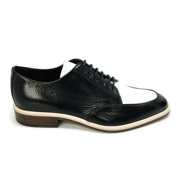 Lanvin Black / White Lace Up Flats
