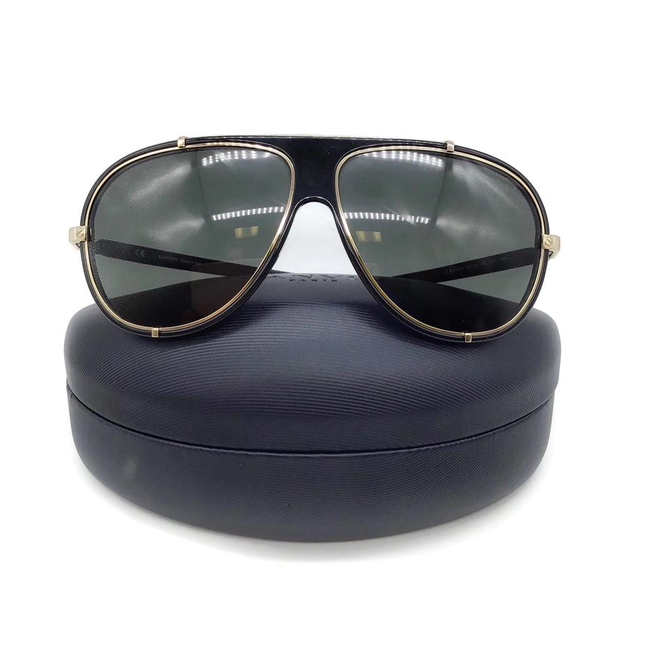 Lanvin Black/Gold Aviators Sunglasses