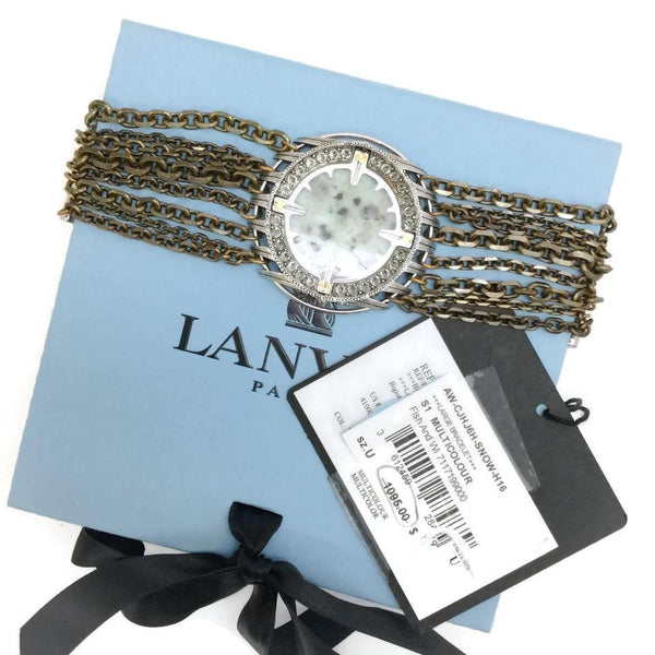 Lanvin Multicolored Snow Stone Bracelet