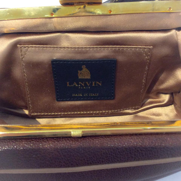 Mini Bag with Chain Strap by Lanvin interior logo