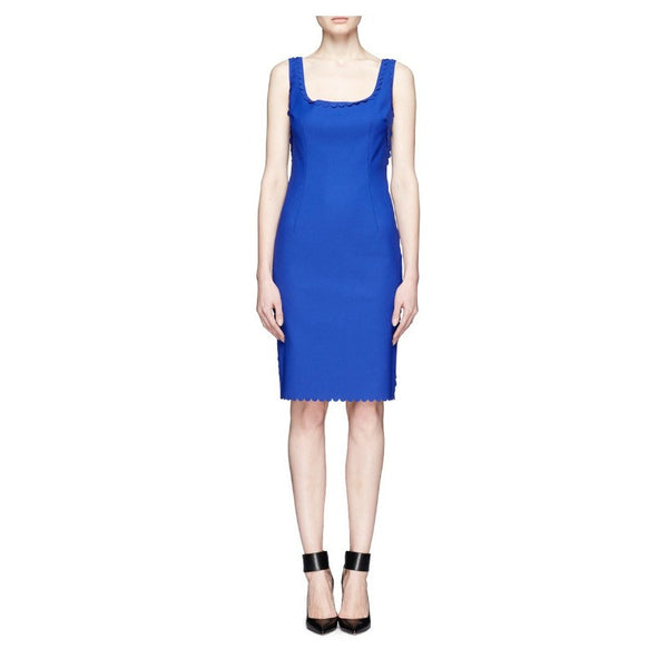 Scalloped Stretch-Gabardine Dress by Lanvin