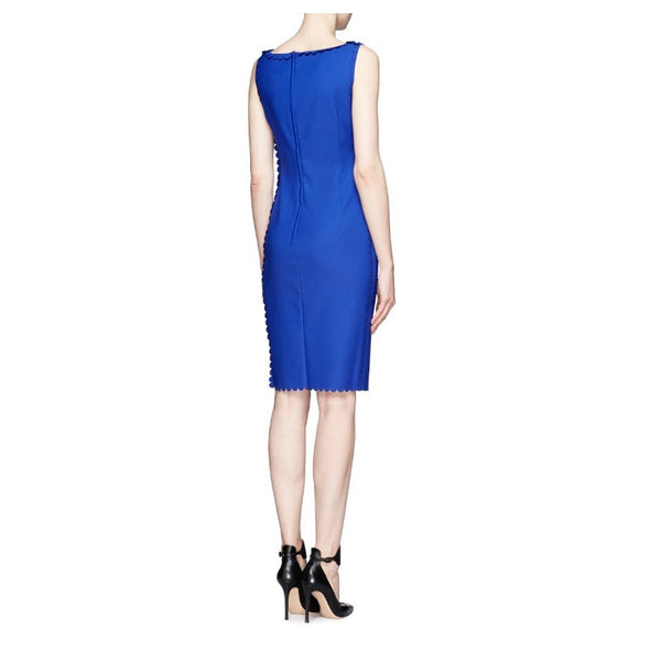 Scalloped Stretch-Gabardine Dress by Lanvin side back