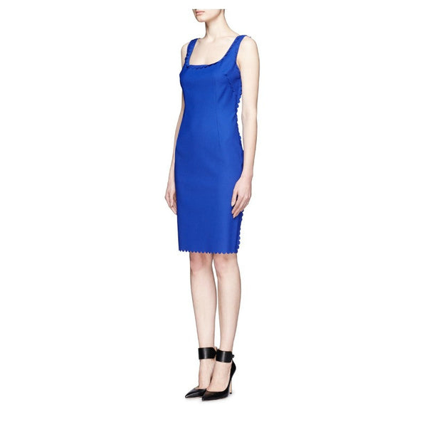 Scalloped Stretch-Gabardine Dress by Lanvin side front