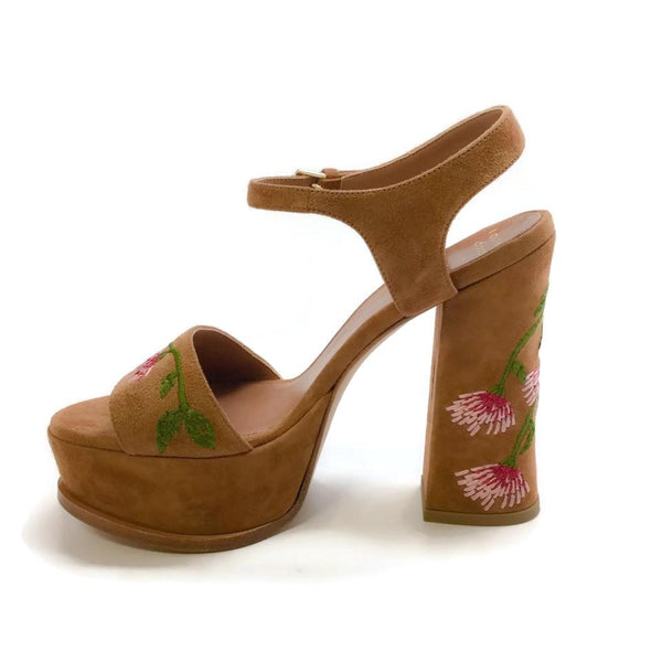 Laurence Dacade Camel Pearla Embroidered Platforms