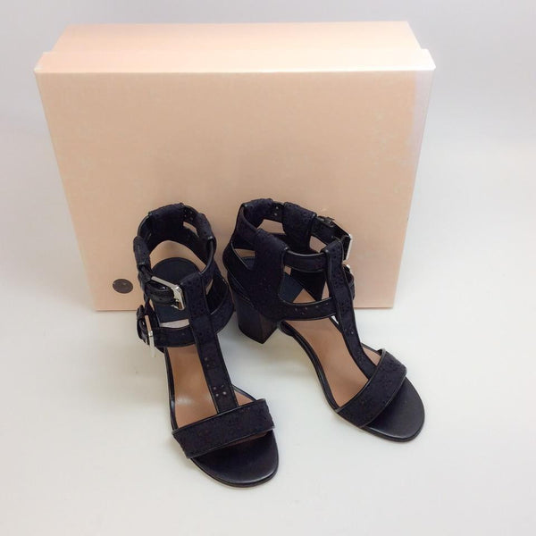 Diane Embroidery Black Sandals by Laurence Dacade with box