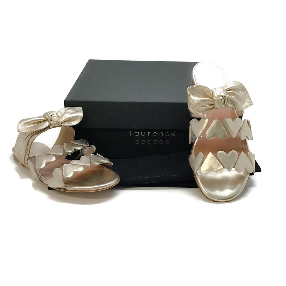 Laurence Dacade Gold Teresa Heart/Bow Sandals