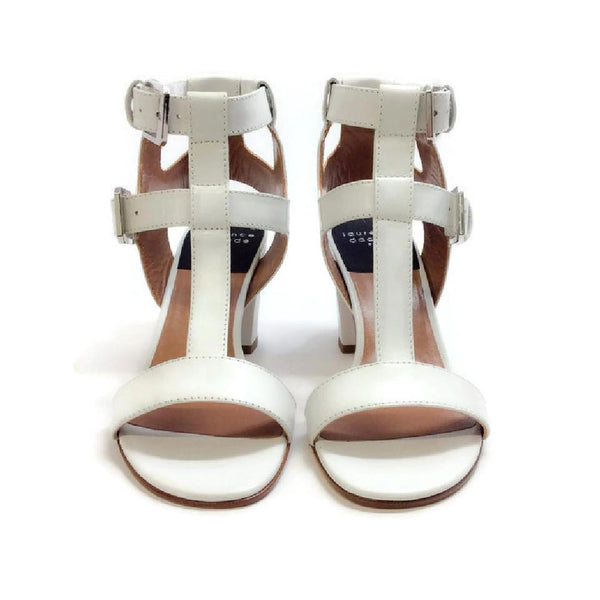 Diane White Sandals by Laurence Dacade front