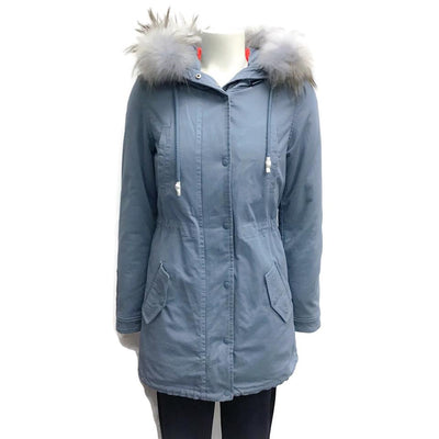 Eleven Elves Light Blue Cotton Coat