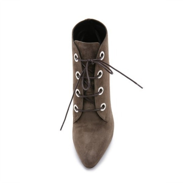 Liv Grey Boots by Belstaff front