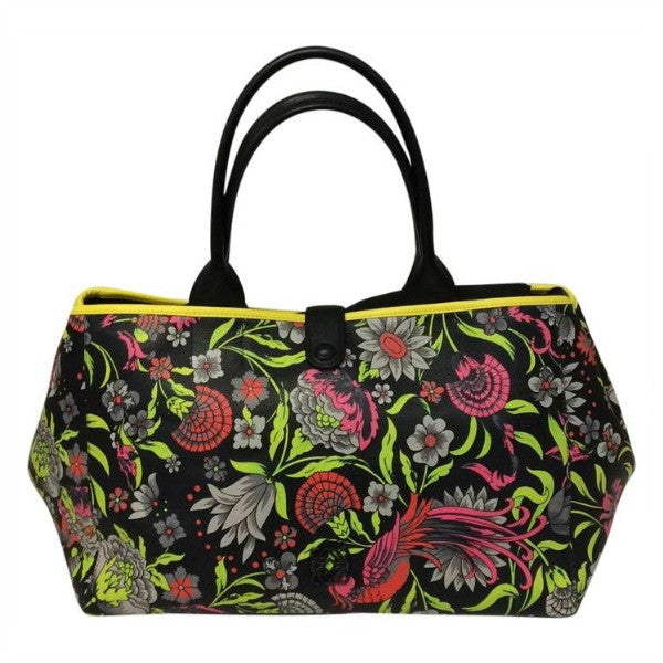 Limited Edition Black Yellow Green Grey Satchel by Loewe