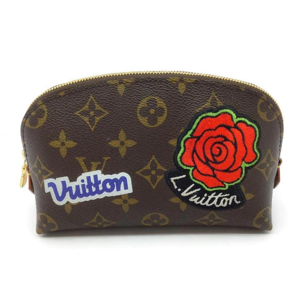 Louis Vuitton 2018 Monogram Brown / Multicolored Leather Clutch