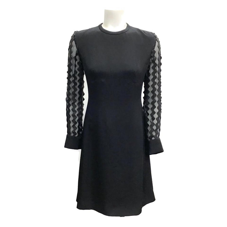 Louis Vuitton Black Silk/Leather Dress