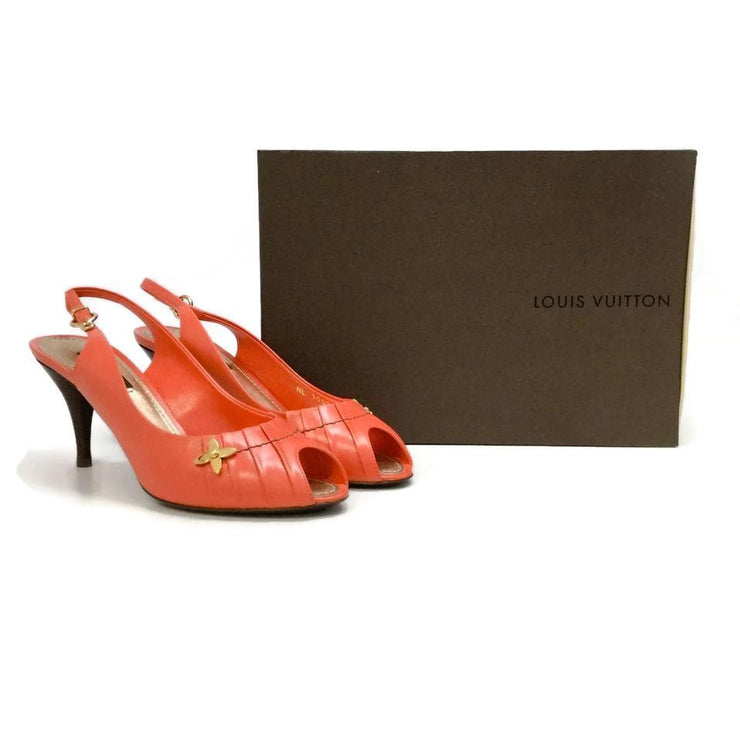 Louis Vuitton Coral Peep Toe Pumps