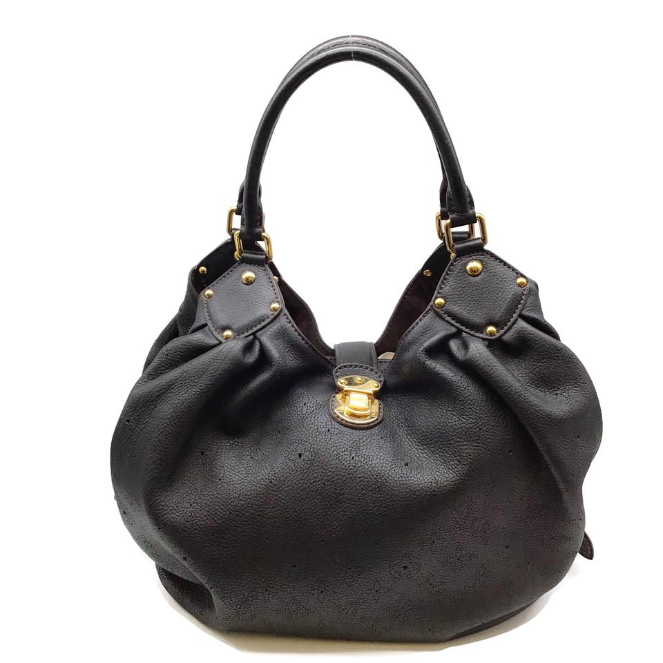 Louis Vuitton Mahina Perforated Black Leather Hobo