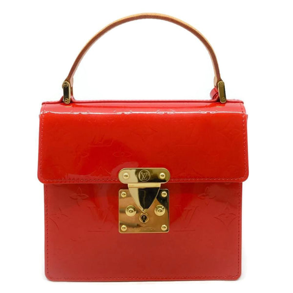 Louis Vuitton Monogram Vernis Red Patent Leather Satchel
