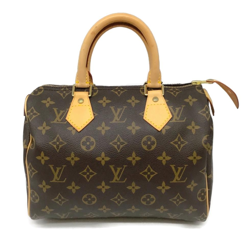 Louis Vuitton Speedy 25 Brown Monogram Canvas Satchel