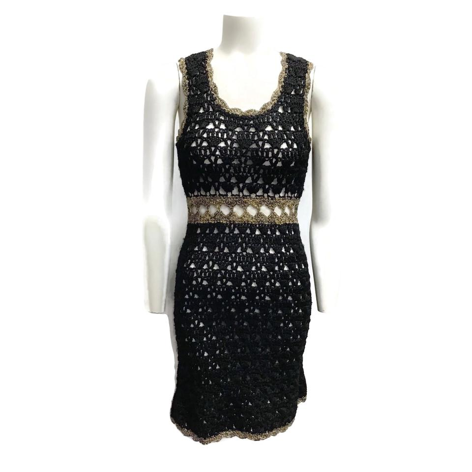 M Missoni Black/Gold Knit Dress