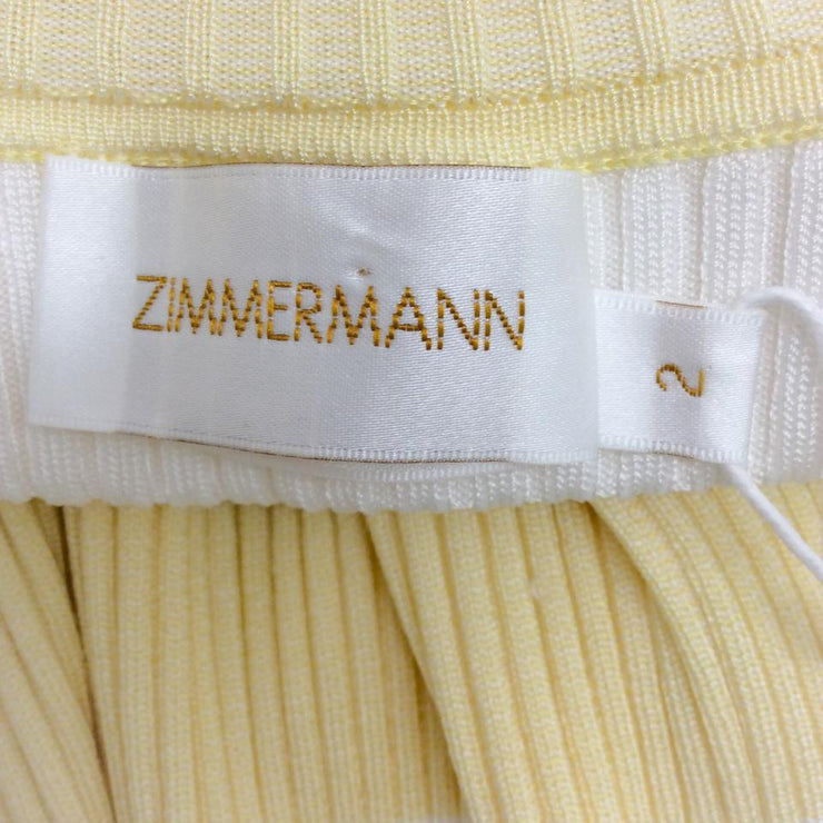 ZIMMERMANN Whitewave White / Lemon Sweater