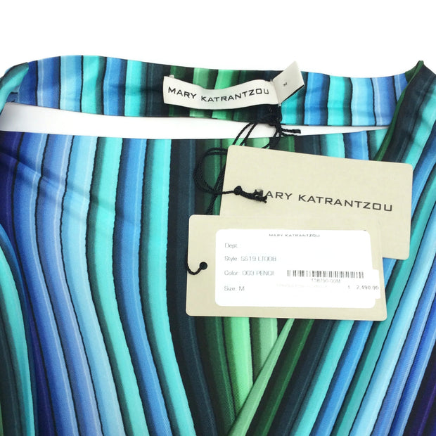 MARY KATRANTZOU Multicolor Fringed Pencil Poncho
