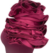 Safiyaa Magenta Ruffle Formal Dress