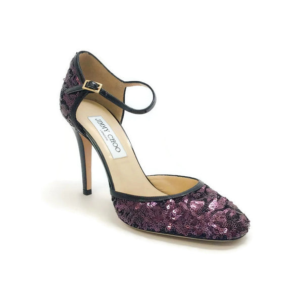 Tessa Plum Sequin Pumps by Jimmy Choo