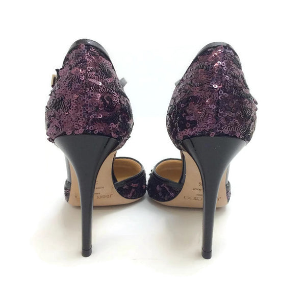 Tessa Plum Sequin Pumps by Jimmy Choo back