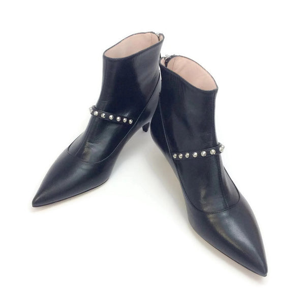 Studded Ankle Booties by Miu Miu pair