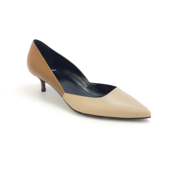 Two-toned Kitten Heel Beige / Camel by Pierre Hardy