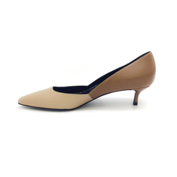 Two-toned Kitten Heel Beige / Camel by Pierre Hardy inside