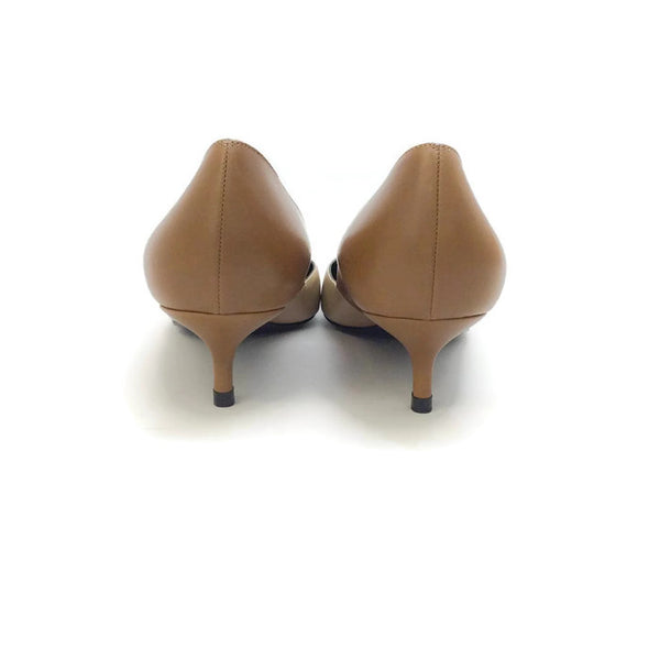 Two-toned Kitten Heel Beige / Camel by Pierre Hardy back