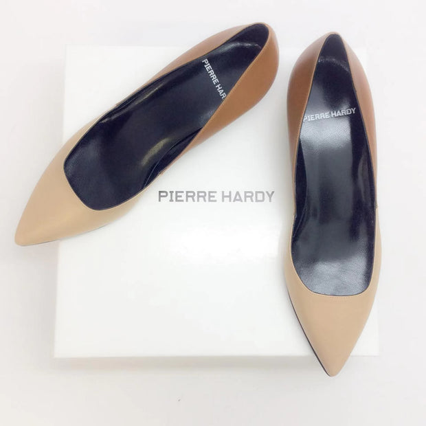 Two-toned Kitten Heel Beige / Camel by Pierre Hardy with box