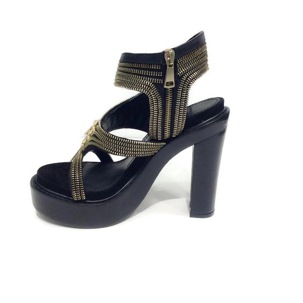 Zipper Platform Black Sandals by Givenchy inside