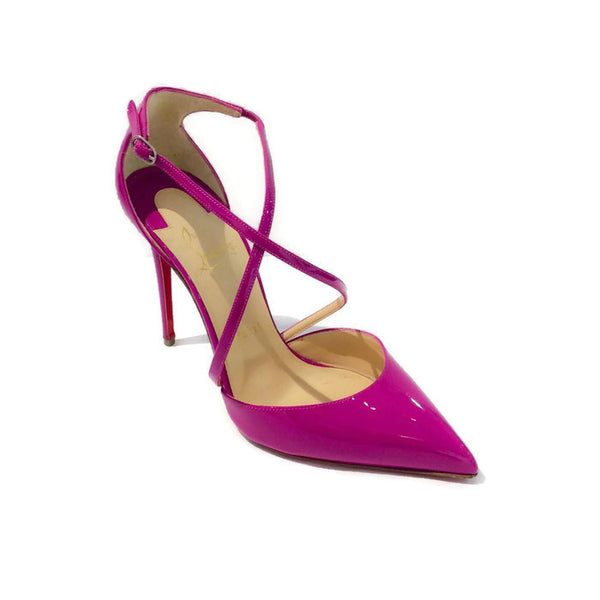 Patent Leather Criss Cross Orchid Pumps by Christian Louboutin