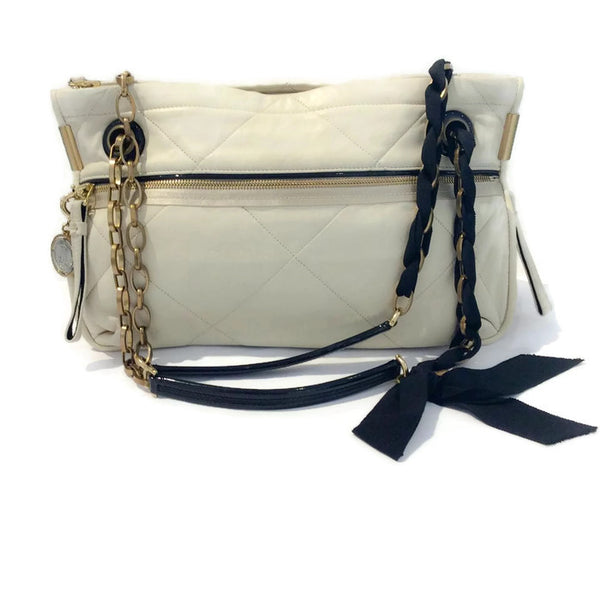 Amalia Medium Cream Shoulder Bag