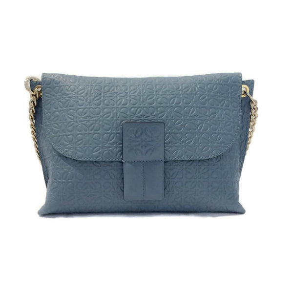 Avenue Embossed Leather Chain Shoulder Bag by Loewe