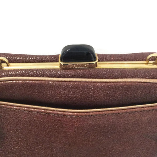 Mini Bag with Chain Strap by Lanvin clasp back