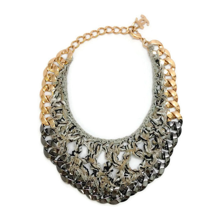 2011 Woven Chain Bib by Chanel