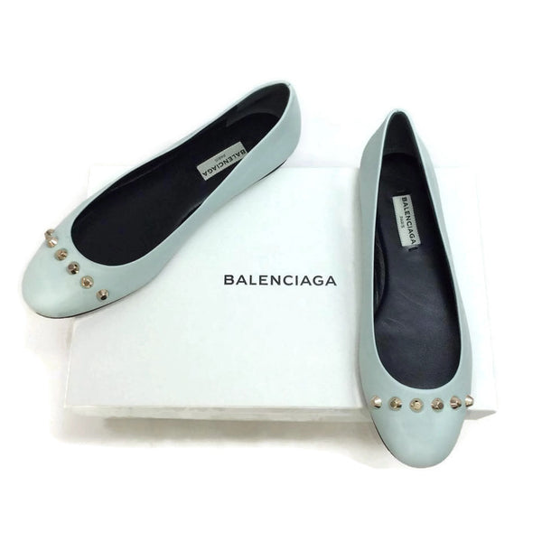 Studded Ballet Flats by Balenciaga with box