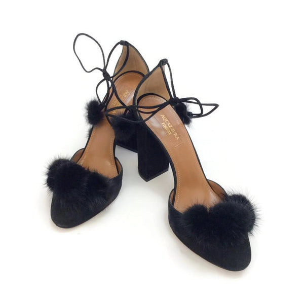 Wild Russian Black D'Orsay Pumps by Aquazzura pair
