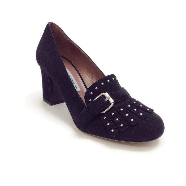 Ethel Black Suede Pumps by Tabitha Simmons