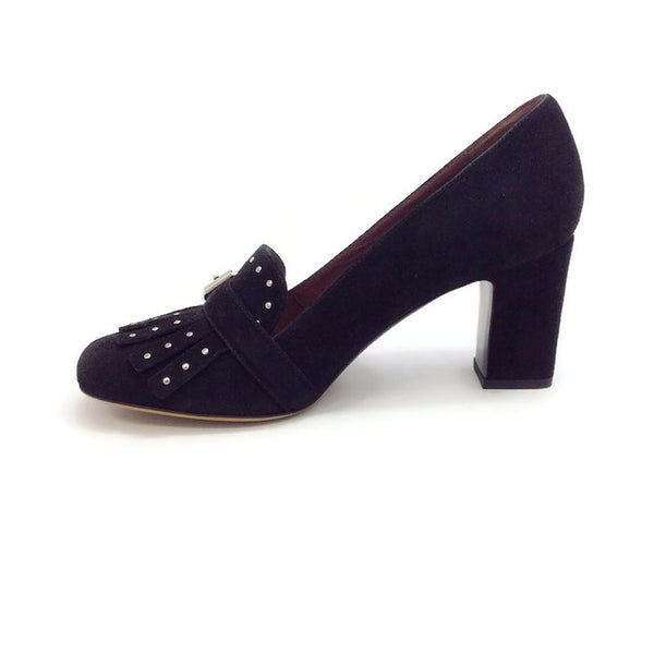 Ethel Black Suede Pumps by Tabitha Simmons inside