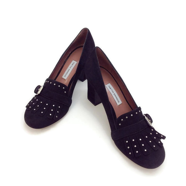Ethel Black Suede Pumps by Tabitha Simmons pair