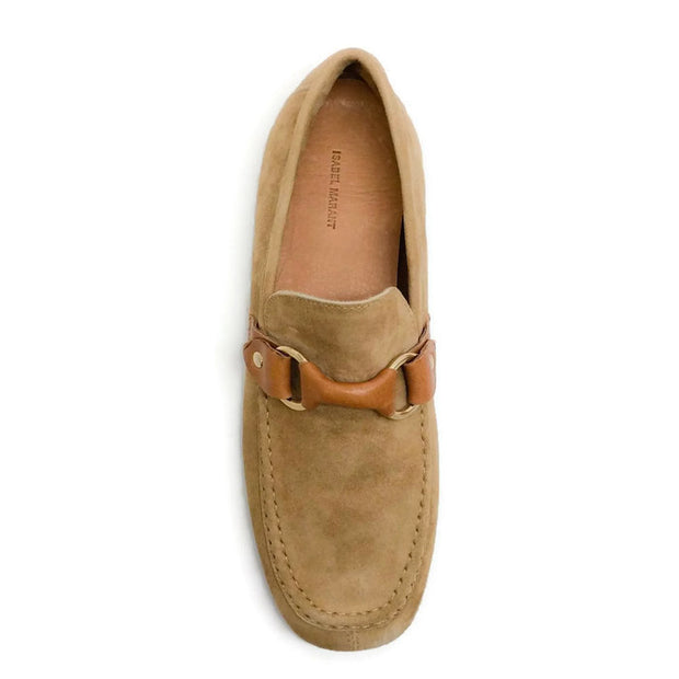 Farlow Suede Camel Loafers by Isabel Marant top