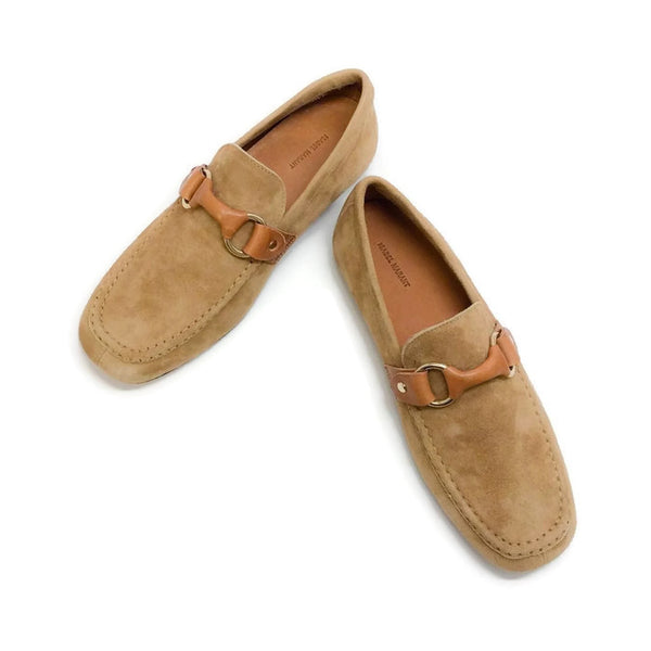 Farlow Suede Camel Loafers by Isabel Marant pair