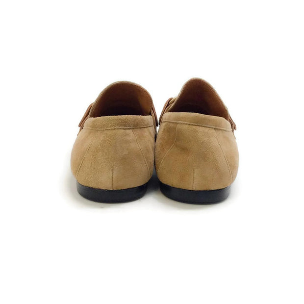Farlow Suede Camel Loafers by Isabel Marant back
