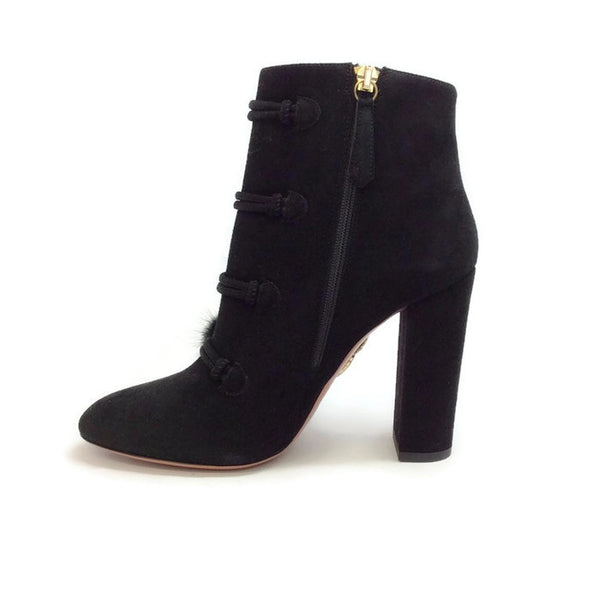 Ulyana Black Suede Booties by Aquazzura inside